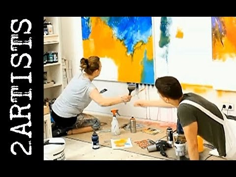 Abstract painting session demo by zAcheR-fineT - watch us paint together