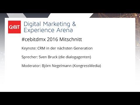 """#cebitdmx: Keynote """"CRM in der nächsten Generation"""""""