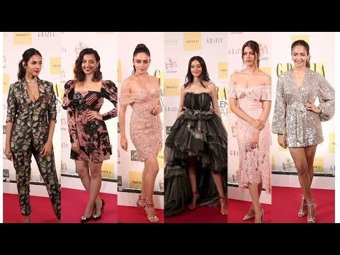 Ananya Pandey, Radhika Apte  At The Red Carpet Of Grazia Millennial Awards 2019