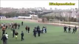 Sporda şiddet Kütahyalı futbolculara uygulandı