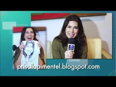 A atriz Fernanda Paes Leme e sua caricatura