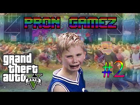 PRON GAMEZ - GTA 5 #2 (MOSHING MAYHEM! ft. LIL 12 Y.O.s)