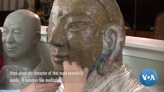 Artist Spreads Mongolian Culture Through Masks - VOAVIDEO
