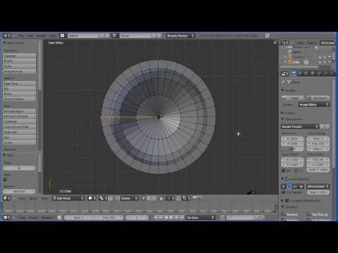 Blender 2.5 Tutorial Making a Model of a Goblet Using the Spin Tool (Lathe Operation) Old Version