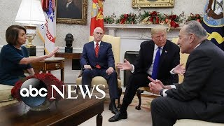 The Oval Office showdown between Trump and Schumer, Pelosi - ABCNEWS