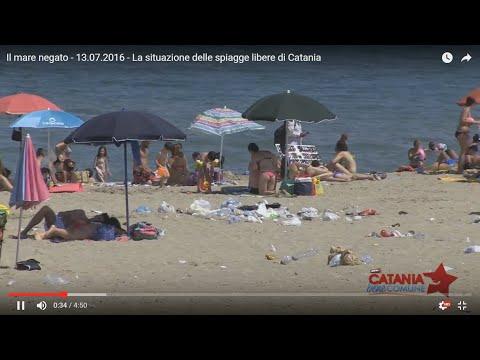 il mare negato 13.07.2016 la situazione delle spiagge libere  di Catania