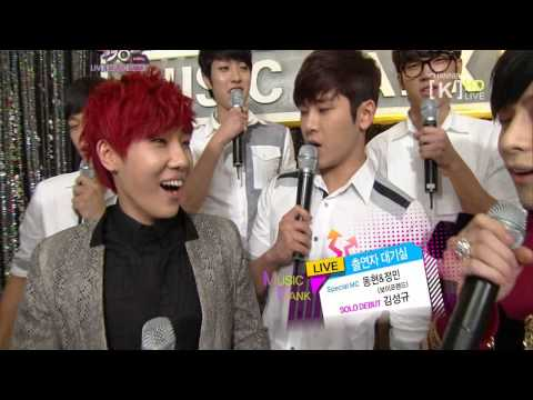 [HD] 121123 Boyfirend MC + Sunggyu INFINITE Waiting Room @ KBS Music Bank