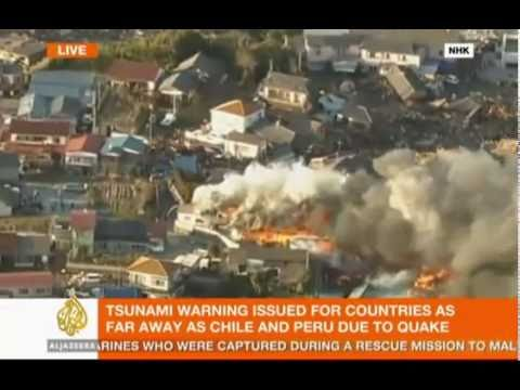 Tokyo Japan 8.8 earthquake today 3/11/11, live footage-video of Japan earthquake-tsunami