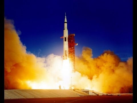 【HD】Launch Apollo 8 Saturn V - Awesome!
