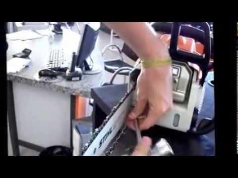 Como trocar o sabre e afiar corrente da motosserra