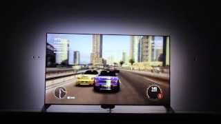 Philips 55PFS8109 gameplay test with Ambilight 4 PC