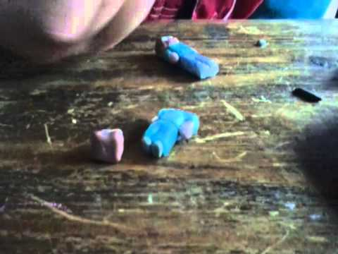 Como hacer un muñeco de plastilina de minecraft
