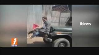 Protester Man Tied To Army Jeep For Defence In Jammu Kashmir | Viral Video | iNews - INEWS