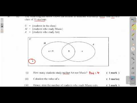 CXC CSEC Maths Past Paper 2 Question 3a May 2011 Exam Solutions