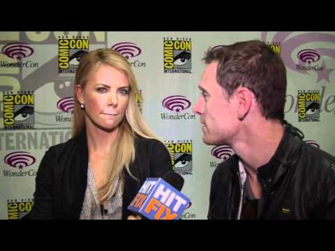 Michael Fassbender and Charlize Theron talk 'Prometheus' at WonderCon 2012