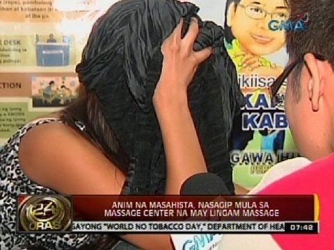 24 Oras: Anim na masahista, nasagip mula sa massage center na may Lingam massage