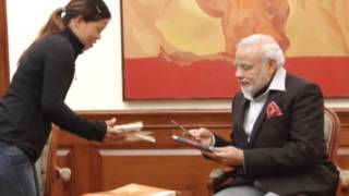 28,Jan 2015 - Olympic medallist boxer Mary Kom calls on Indian PM Modi - ANIINDIAFILE