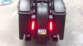 sinister bagger parts and taillight demo on harley streetgl youtube rh youtube com LED Light Fixture Wiring Diagram Wiring LED Lights to Car