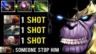 1 SHOT KILL Mid Thanos Is Back! Crazy 31 Charges 5000 Damage Shot Destroy Top Meta Carry 7.25 Dota 2