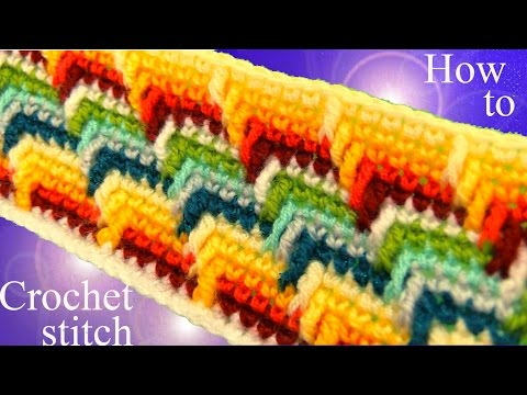 Como tejer punto maravilloso arcoíris a Crochet en rectángulo para mantas cobijas colchas