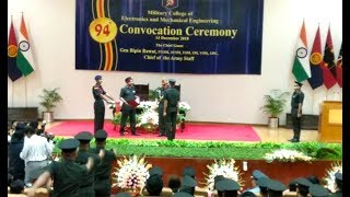 Secunderabad: Army Chief General Bipin Rawat attends 99th convocation ceremony at Military College - TIMESOFINDIACHANNEL