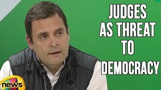 Rahul Gandhi Points Out The Issue Of Supreme Court Judges as Threat To Democracy | Mango News - MANGONEWS