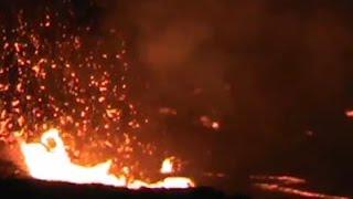 انفجار بركاني مخيف في هاواي لأول مرة منذ قرن