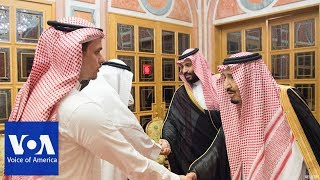 Saudi King Salman meets with family members of slain journalist - VOAVIDEO