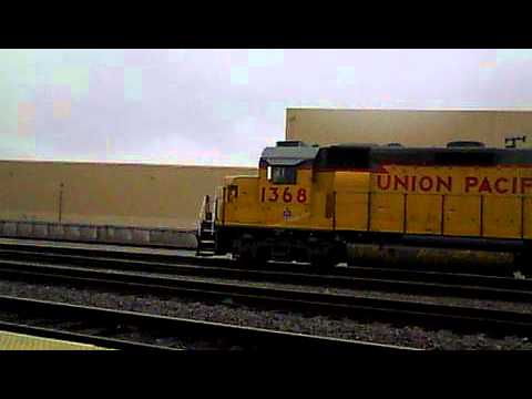 UP 1368 & 69 Switch Cars at the Van Nuys Gemco Yard. 1-23-12.