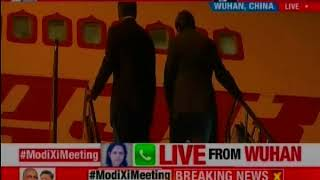 Prime Minister Narendra Modi arrives in Wuhan, China - NEWSXLIVE