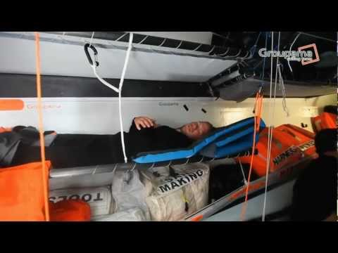 Charles Caudrelier - VOR12 &#8211; Groupama 4 aprs 48h d&#8217;un engagement bien rel !
