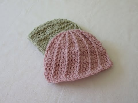 VERY EASY crochet cable baby hat / beanie tutorial