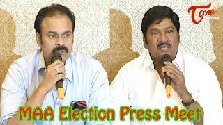 MAA Election Press Meet | Naga Babu | Rajendra Prasad - TELUGUONE