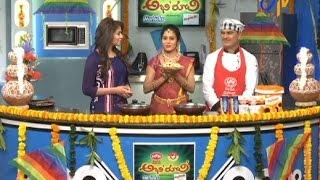 Abhiruchi – Horlicks Berry, Gummadi Kaaya Kura & Halwa,  Mixed Dal Pongal, Ariselu  – 15th Jan