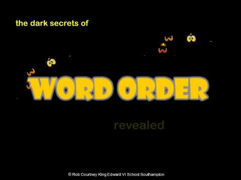 The Dark Secrets of German Word Order - the basics