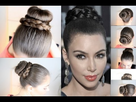 Прическа от Kim Kardashian