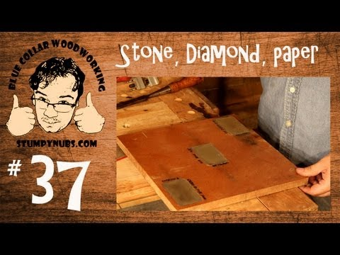 Scary Sharp! Sharpening tools with paper, stones or diamonds- Woodworking with Stumpy Nubs 37
