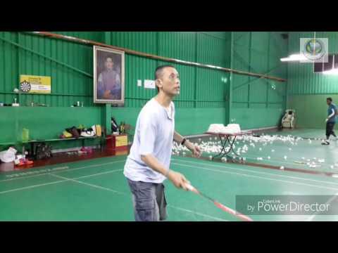 Badminton training in Nusa Mahsuri - No Mercy!