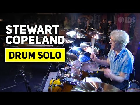 [HD] Stewart Copeland - Drum Solo (2nd Week) - David Letterman 8-24-11 -yB65_CVbo-0