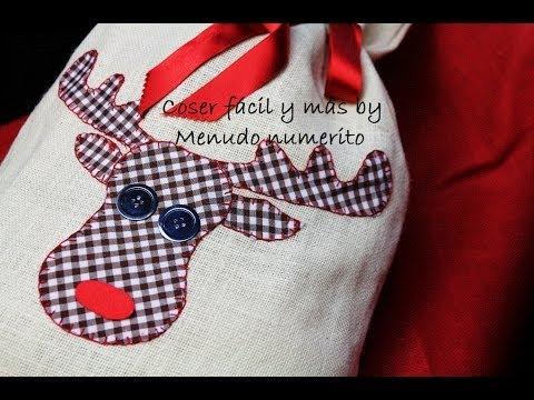 Cómo hacer un saco de regalos Rudolf para Navidad