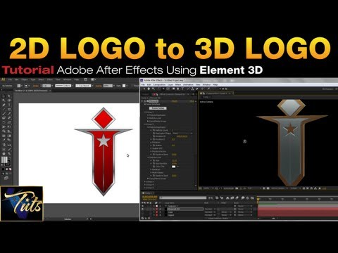 How To 2D LOGO To ELEMENT 3D In Adobe After Effects | IP Tuts