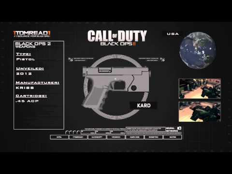 Black Ops 2 Guns : KARD - NEW Multiplayer Weapon Breakdown! (Call of Duty BO2 2012)