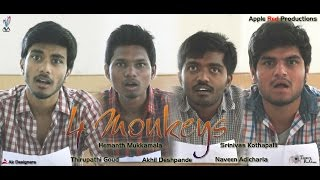 4 Monkeys - Telugu Comedy Short Film 2015 - YOUTUBE