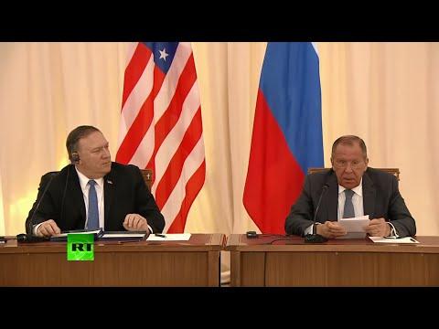 Сергей Лавров и Майк Помпео подводят итоги переговоров 14.05.2019