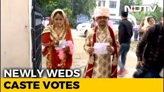 This Couple Headed To Vote Straight From Their Wedding - NDTV