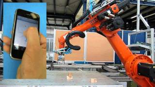 iPhone Industrial Robot Control - KUKA KR 6 view on youtube.com tube online.
