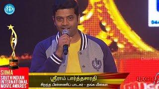 SIIMA 2014 || Tamil Best Playback Singer Male || Sri Ram Pardha Saradhi - IDREAMMOVIES