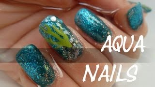 oOMauMouseOo – [Sommerserie] Aqua Nails (Nail Art Tutorial)