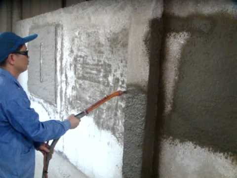 Maquina para hacer friso de cemento al pared 2
