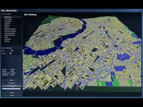 Introversion Procedural City Generator Tech Demo